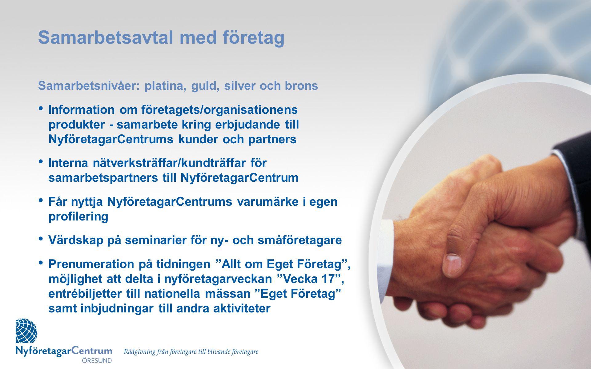 Samarbetsavtal med företag