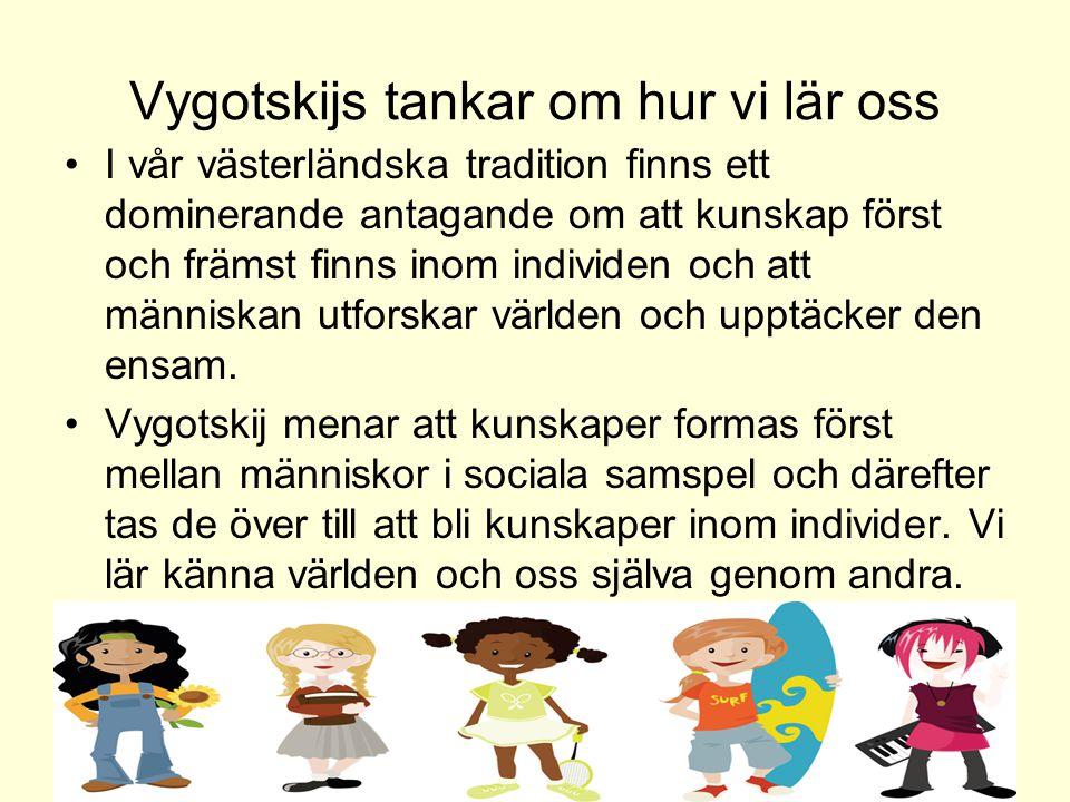 Vygotskijs tankar om hur vi lär oss