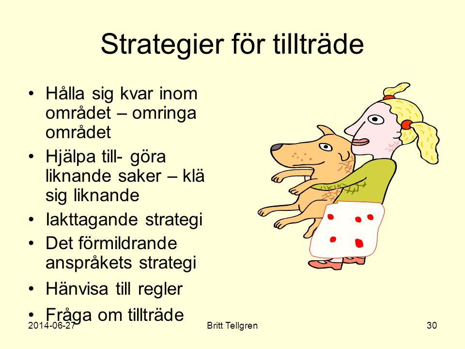 Strategier för tillträde