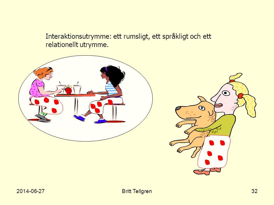 Interaktionsutrymme: ett rumsligt, ett språkligt och ett