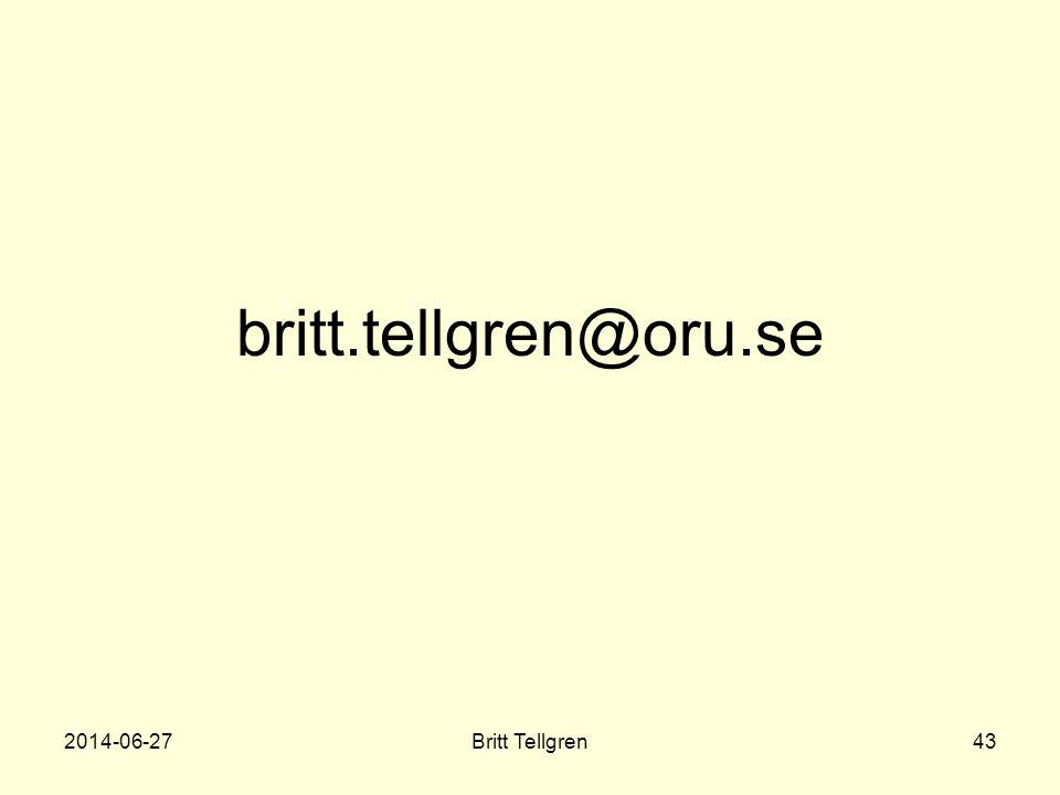 britt.tellgren@oru.se 2017-04-03 Britt Tellgren