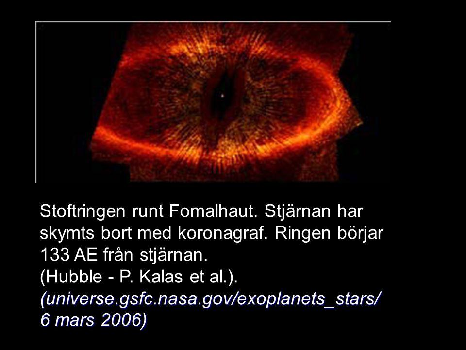 Stoftringen runt Fomalhaut. Stjärnan har skymts bort med koronagraf