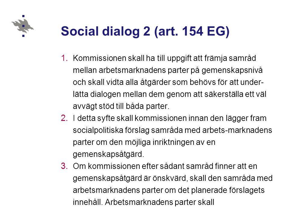 30.10.2012 Social dialog 2 (art. 154 EG)