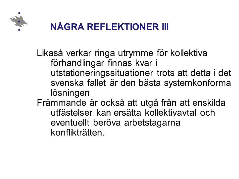 NÅGRA REFLEKTIONER III