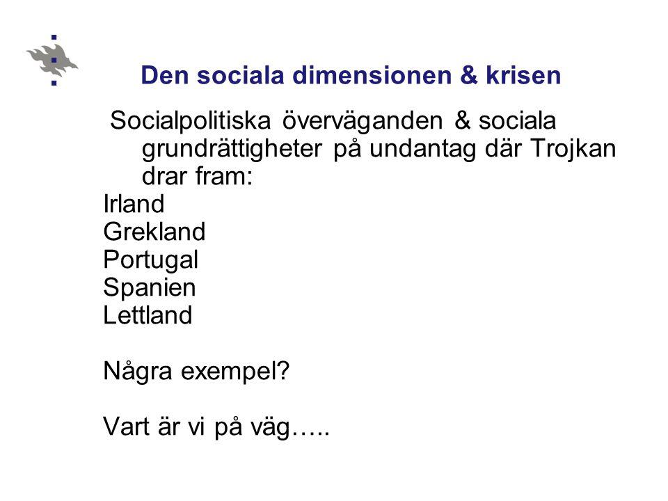 Den sociala dimensionen & krisen