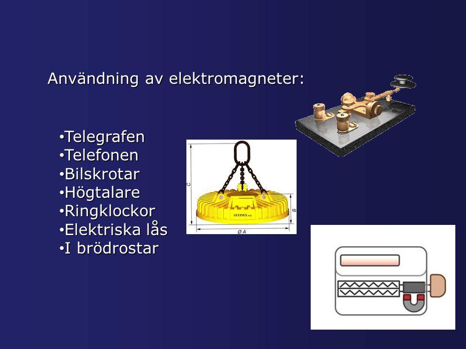 Användning av elektromagneter: