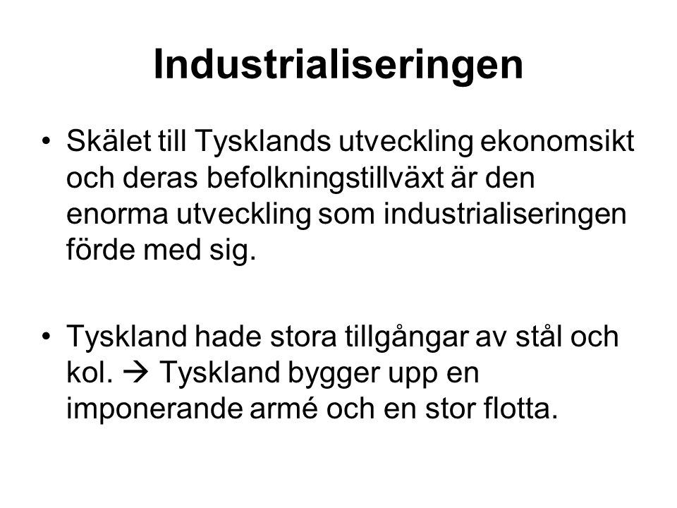 Industrialiseringen