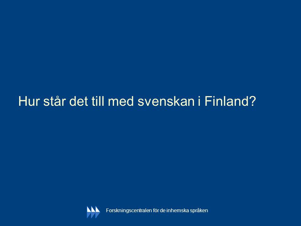 Hur står det till med svenskan i Finland