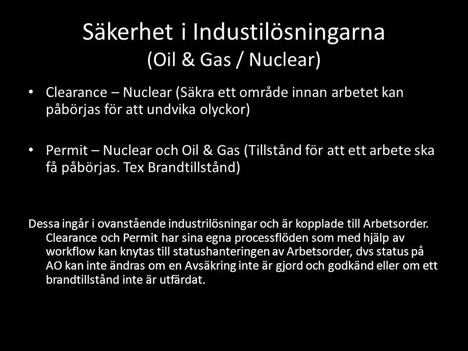Säkerhet i Industilösningarna (Oil & Gas / Nuclear)