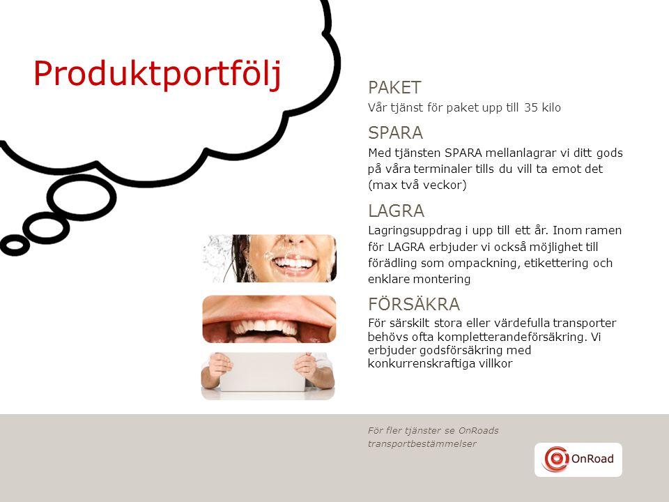 Produktportfölj PAKET SPARA LAGRA FÖRSÄKRA