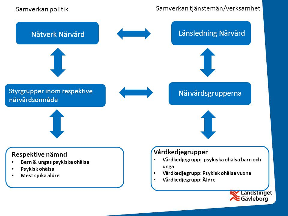 Länsledning Närvård Nätverk Närvård Närvårdsgrupperna