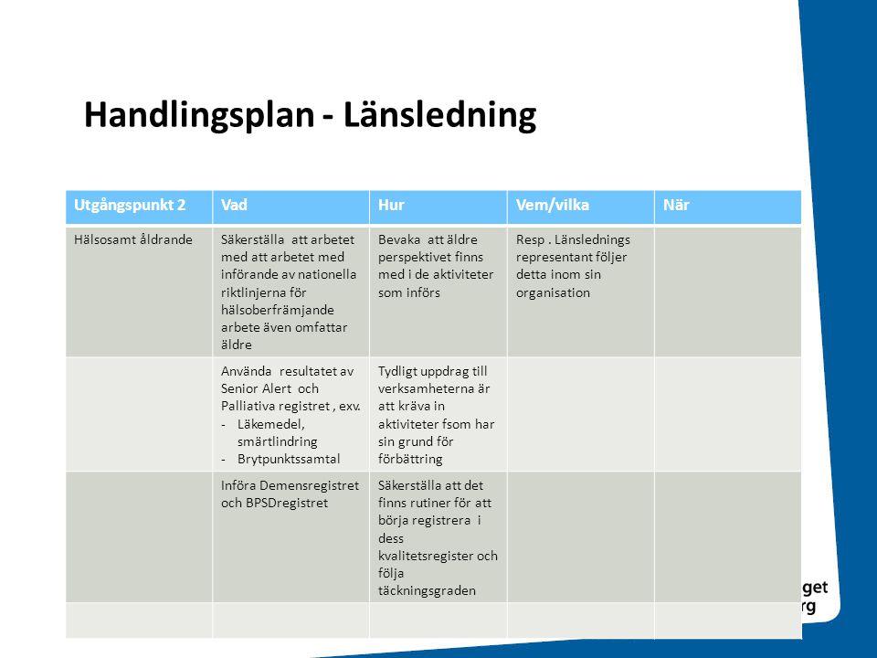 Handlingsplan - Länsledning