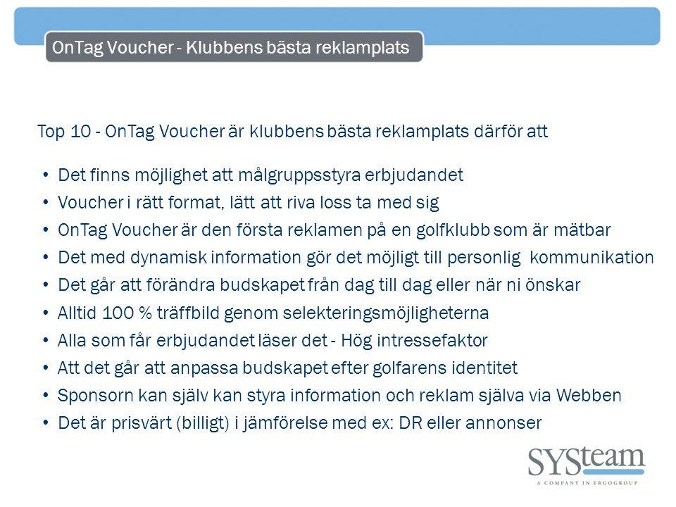 OnTag Voucher - Klubbens bästa reklamplats