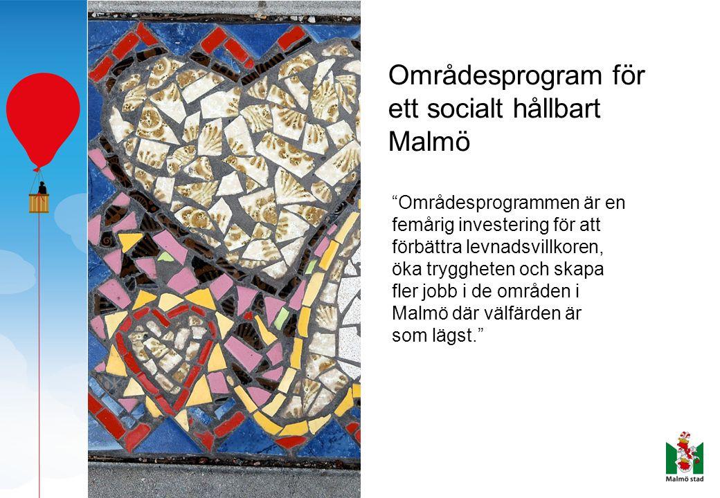 Områdesprogram för ett socialt hållbart Malmö