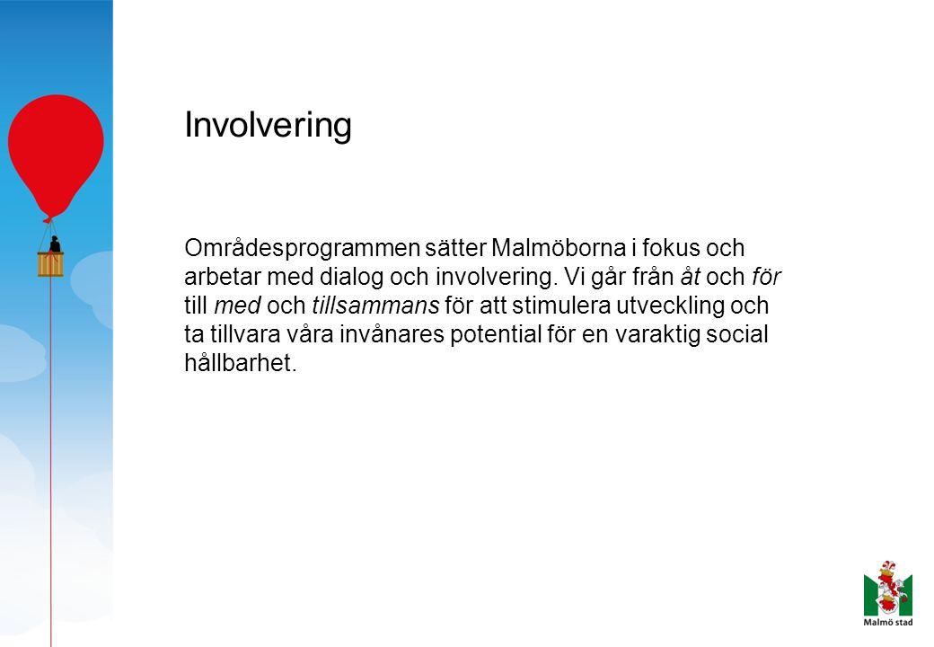 Involvering Områdesprogrammen sätter Malmöborna i fokus och