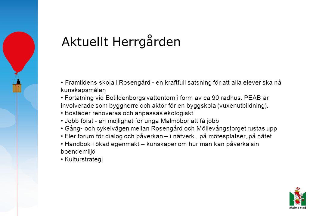 Aktuellt Herrgården Framtidens skola i Rosengård - en kraftfull satsning för att alla elever ska nå kunskapsmålen.