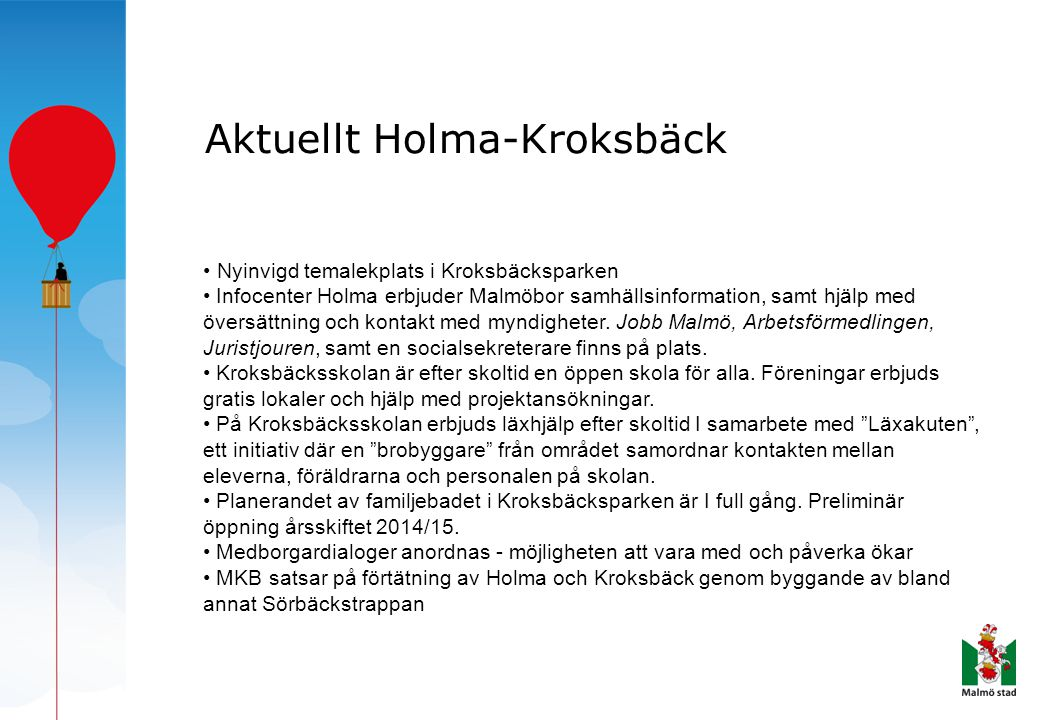 Aktuellt Holma-Kroksbäck