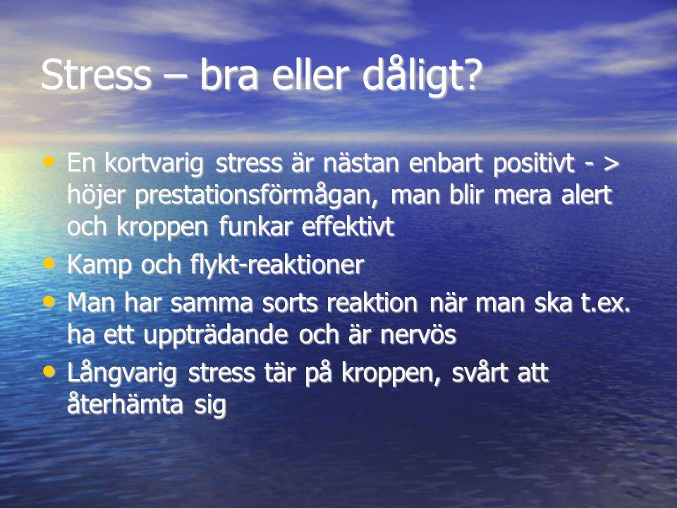 Stress – bra eller dåligt