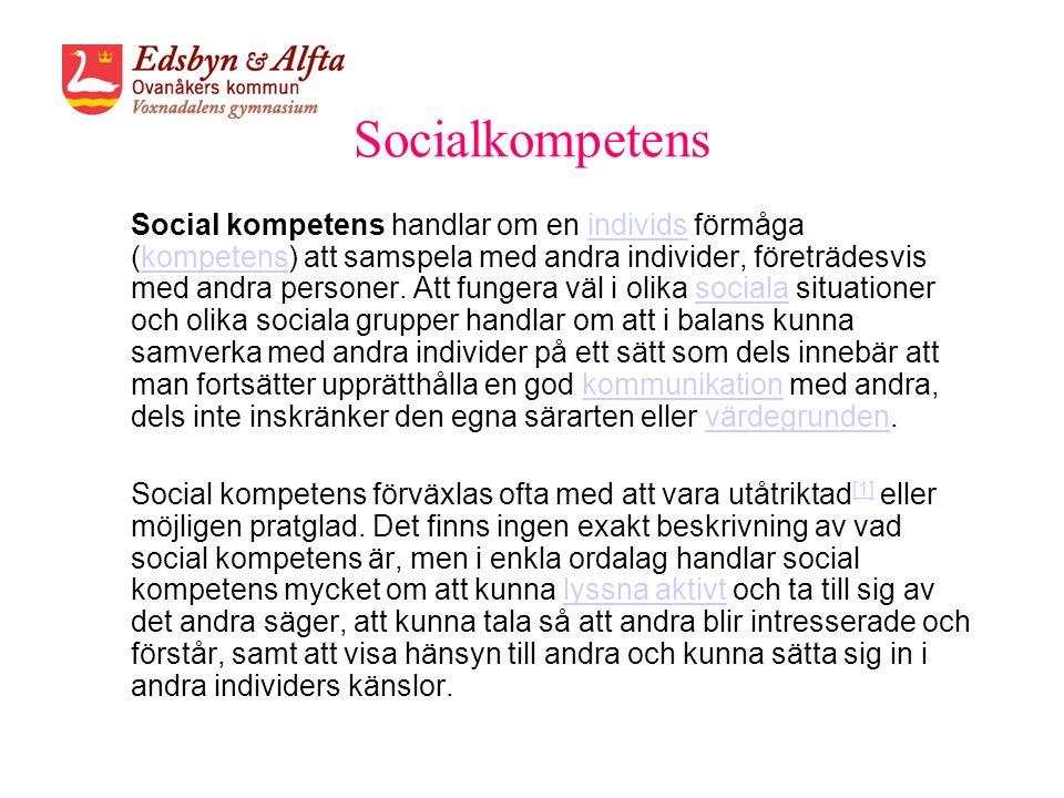 Socialkompetens
