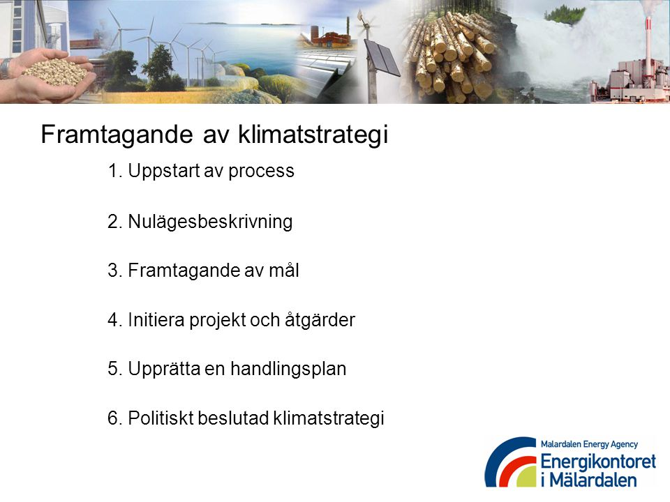 Framtagande av klimatstrategi 1. Uppstart av process