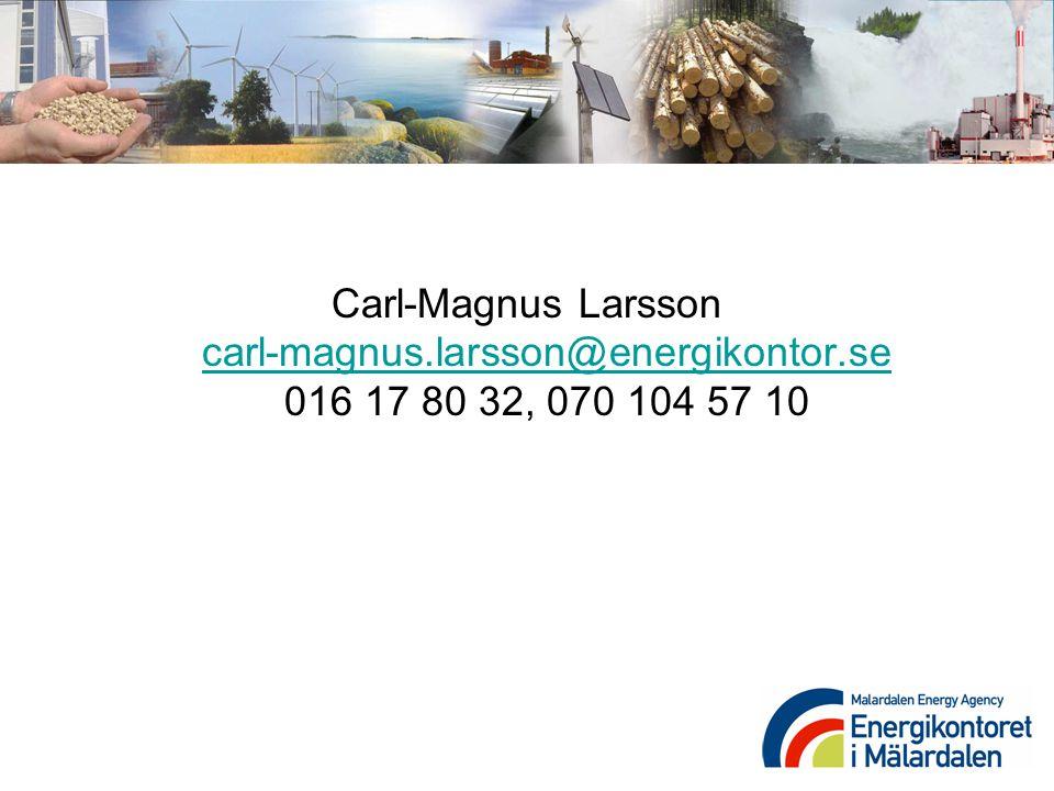 Carl-Magnus Larsson carl-magnus. larsson@energikontor