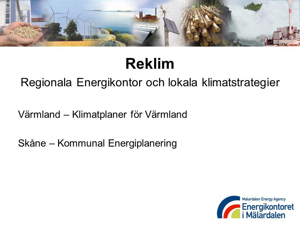 Regionala Energikontor och lokala klimatstrategier