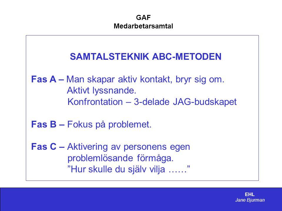 SAMTALSTEKNIK ABC-METODEN