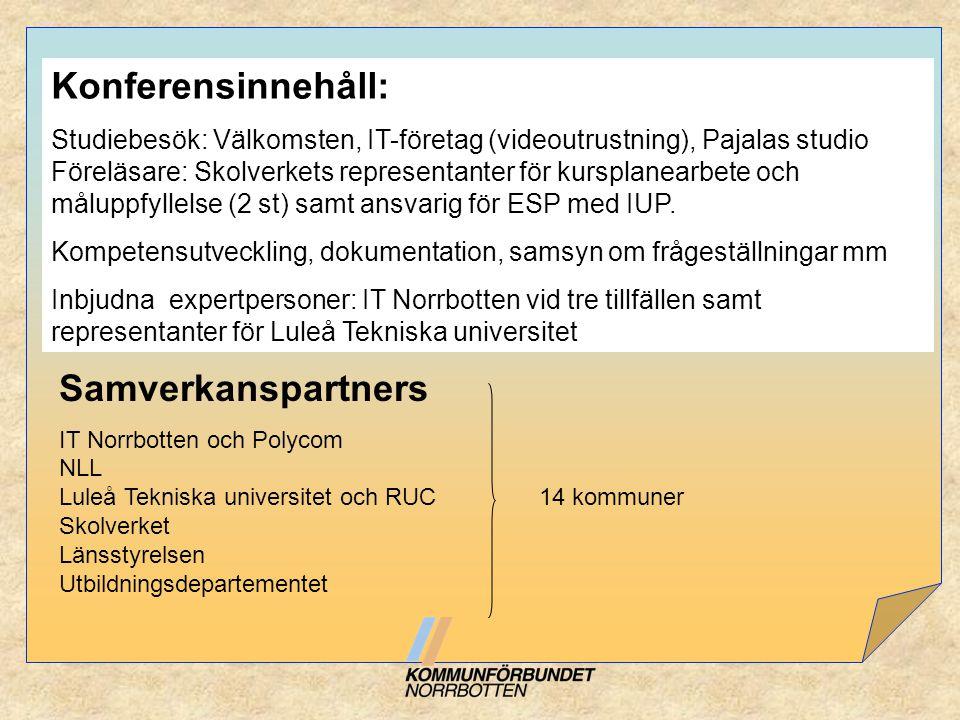 Konferensinnehåll: Samverkanspartners