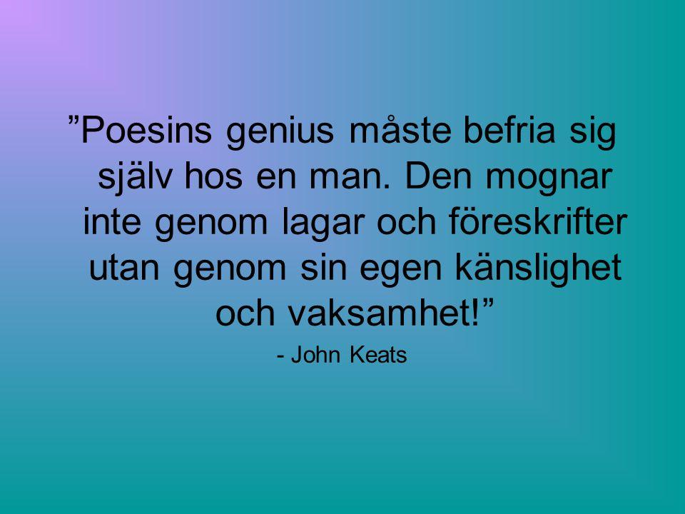 Poesins genius måste befria sig själv hos en man
