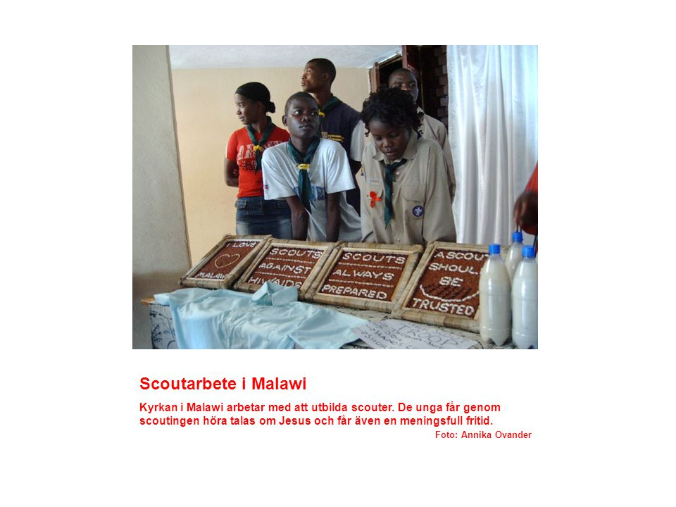 Scoutarbete i Malawi