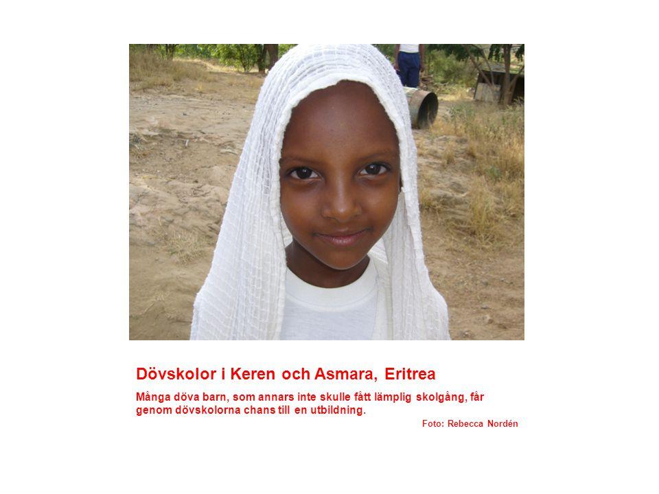 Dövskolor i Keren och Asmara, Eritrea