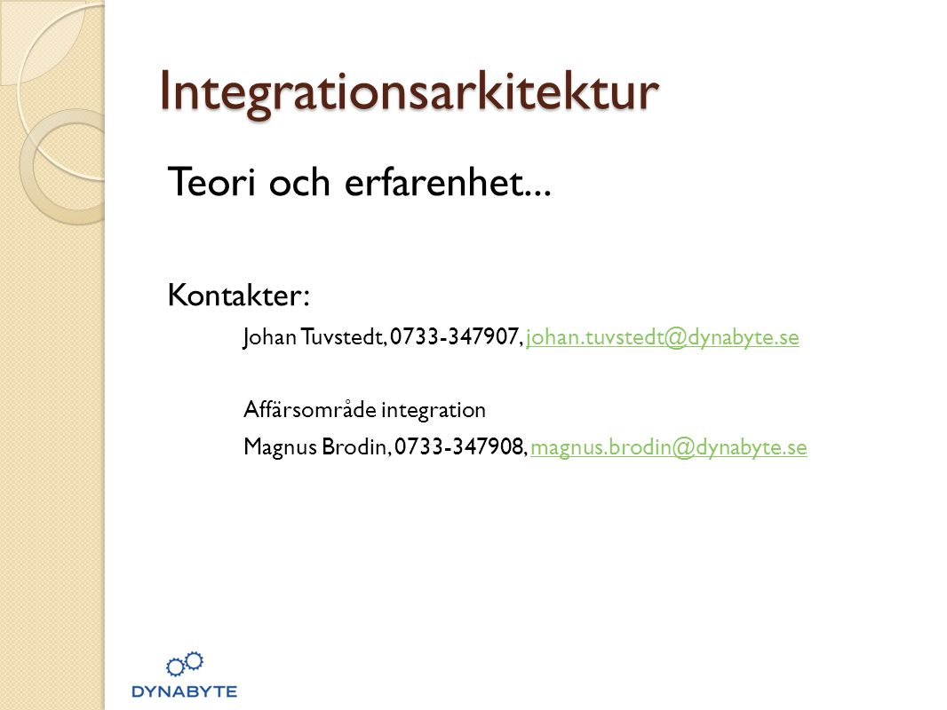 Integrationsarkitektur