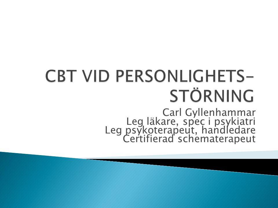 CBT VID PERSONLIGHETS-STÖRNING