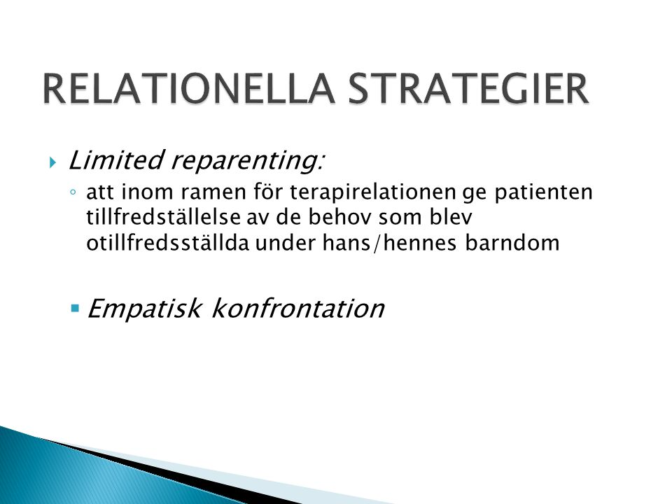 RELATIONELLA STRATEGIER