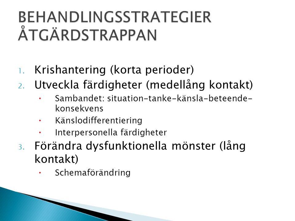 BEHANDLINGSSTRATEGIER ÅTGÄRDSTRAPPAN