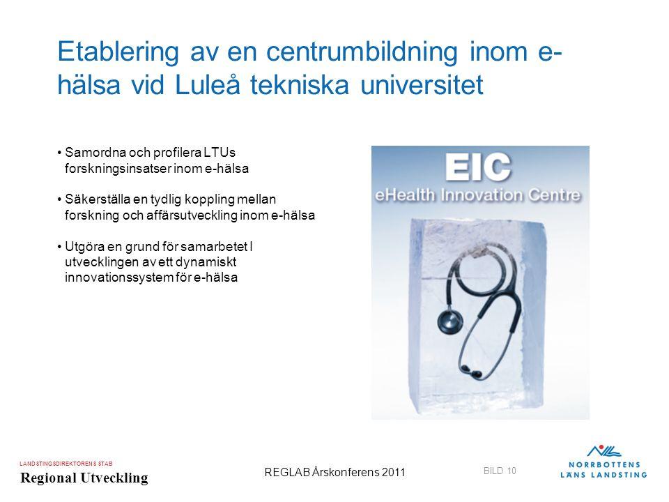 Etablering av en centrumbildning inom e-hälsa vid Luleå tekniska universitet