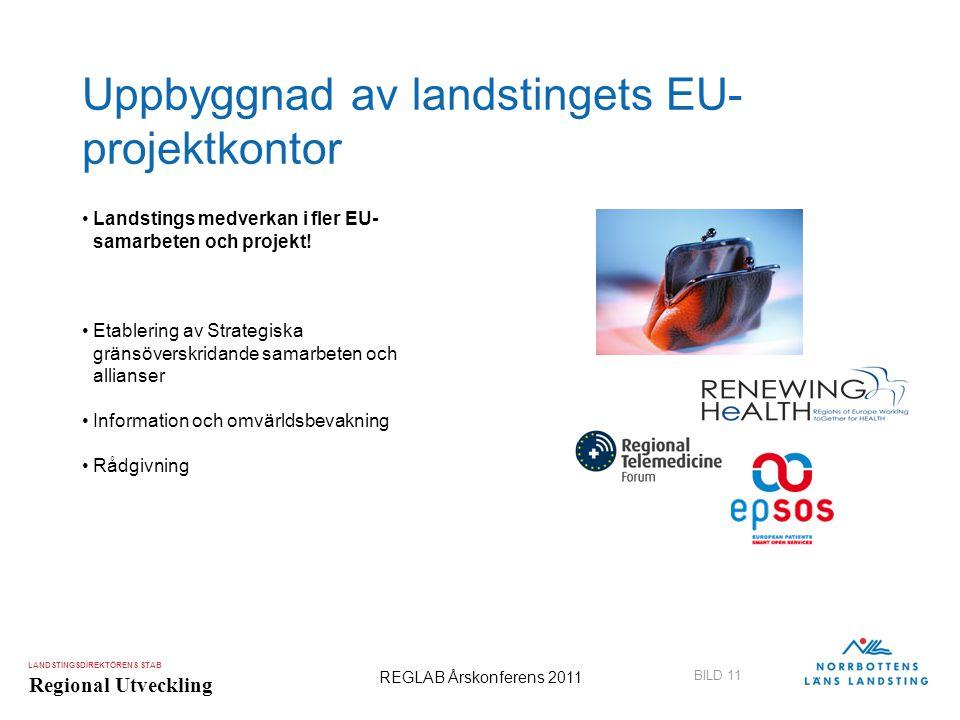 Uppbyggnad av landstingets EU-projektkontor