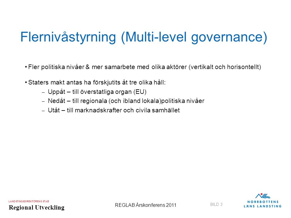 Flernivåstyrning (Multi-level governance)
