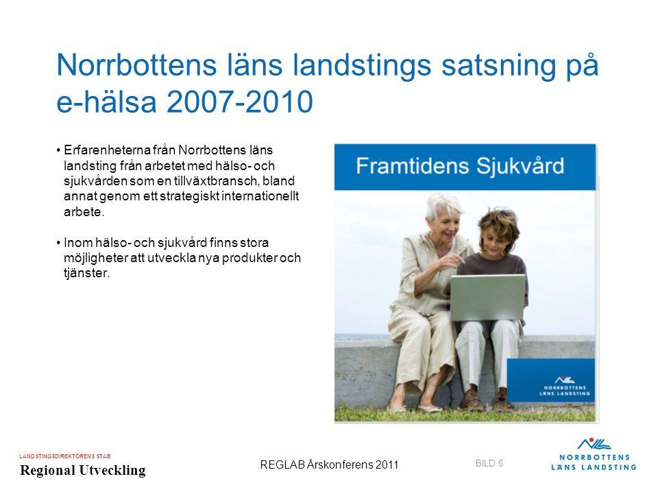 Norrbottens läns landstings satsning på e-hälsa 2007-2010