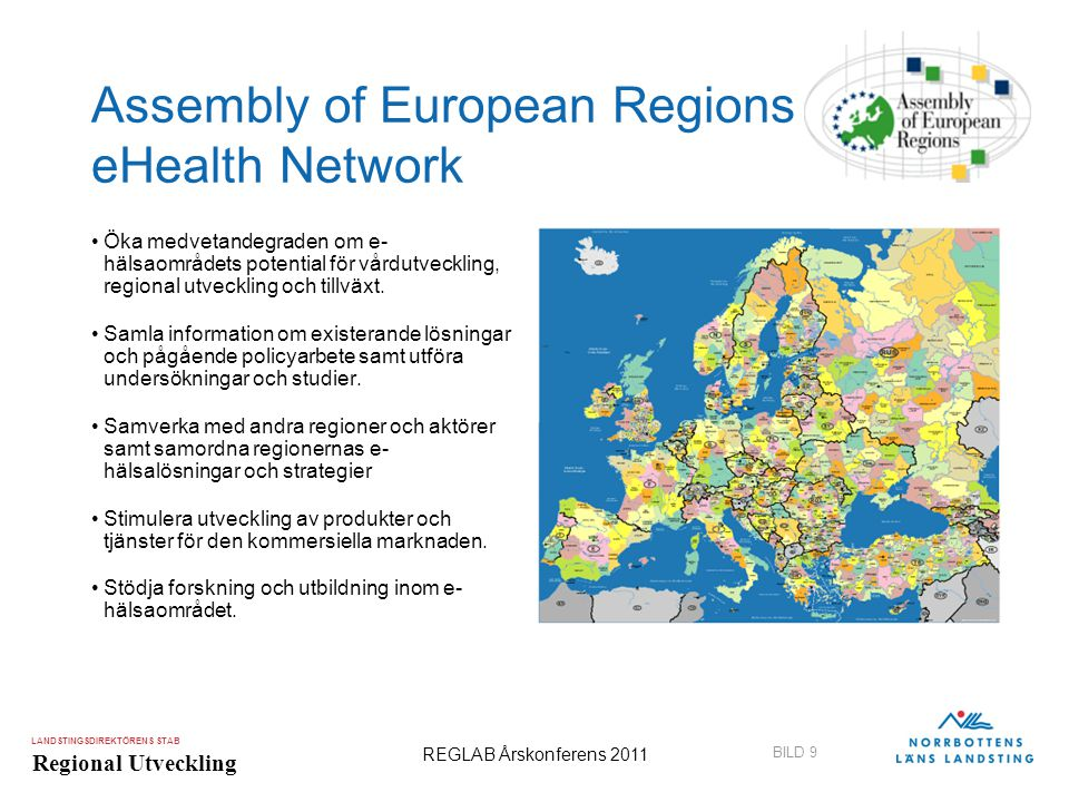 Assembly of European Regions eHealth Network
