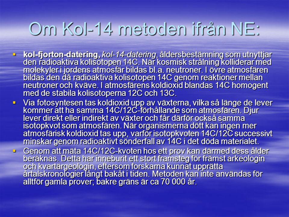 Om Kol-14 metoden ifrån NE: