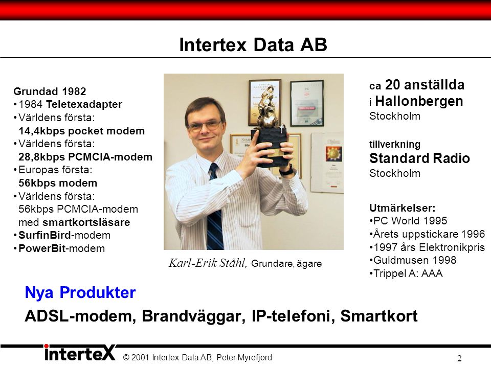 Intertex Data AB Nya Produkter