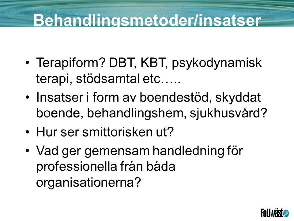 Behandlingsmetoder/insatser