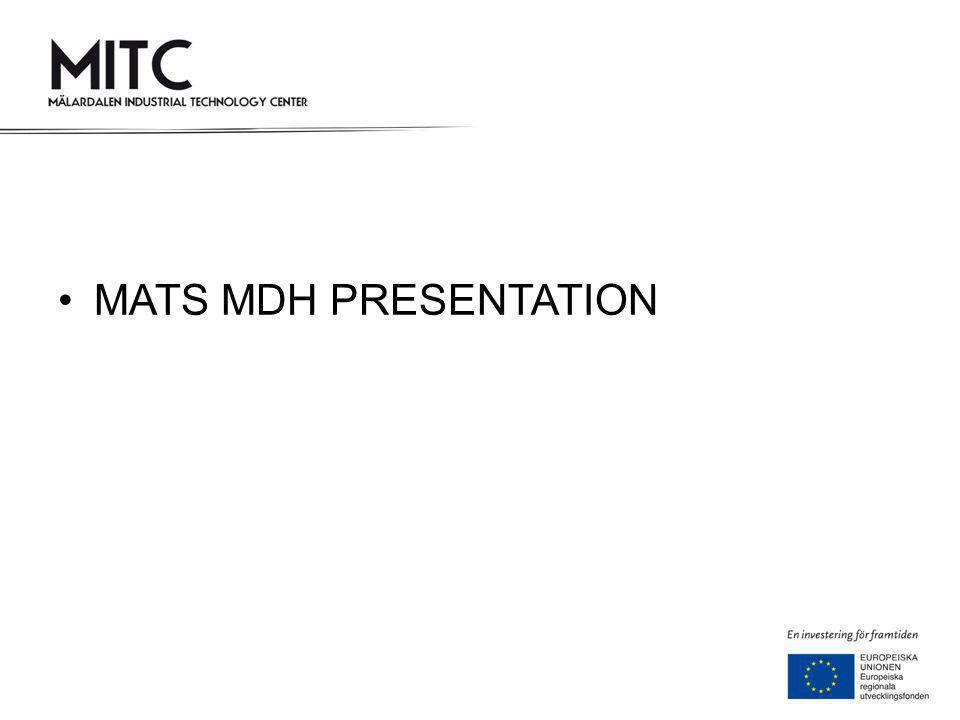 MATS MDH PRESENTATION