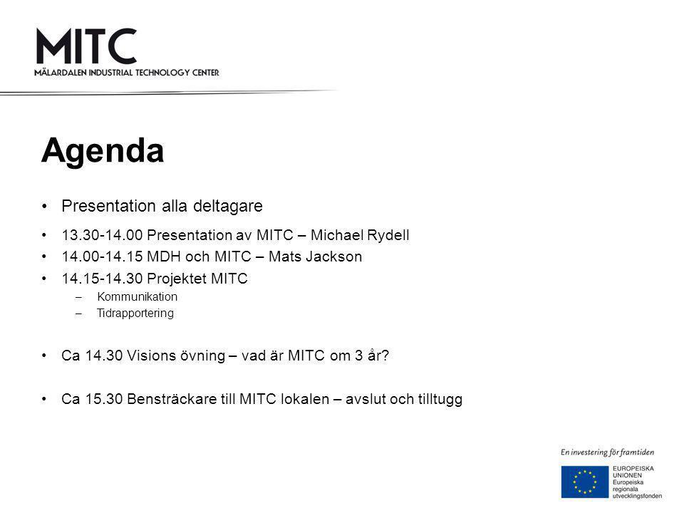 Agenda Presentation alla deltagare