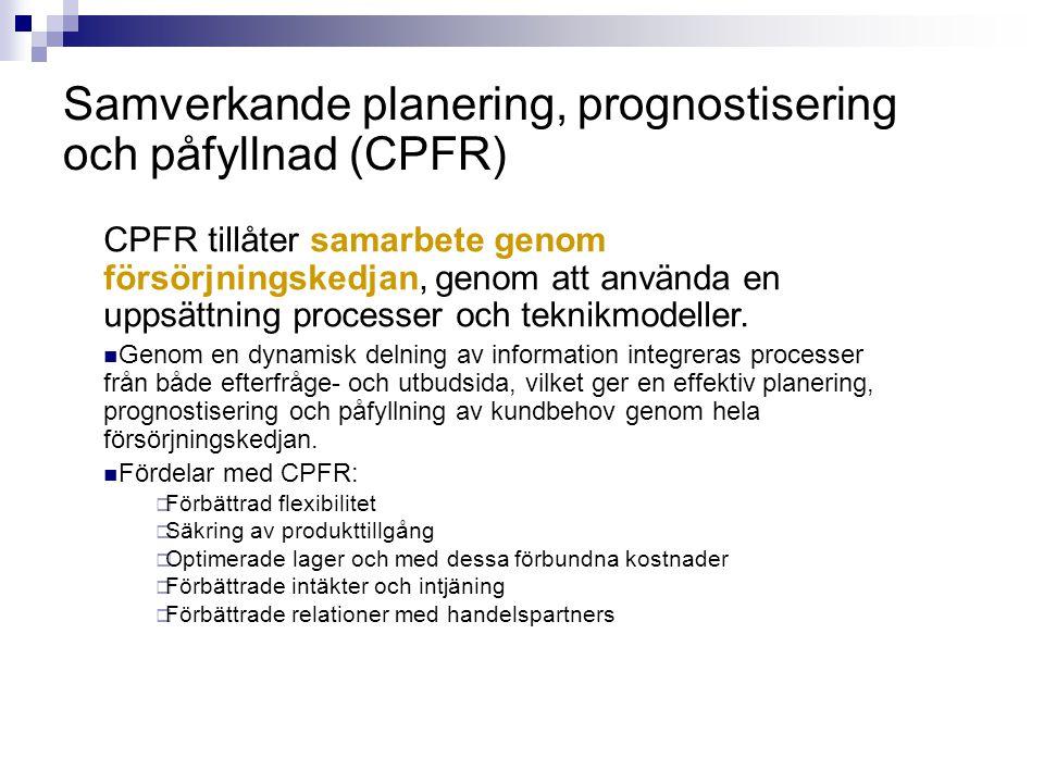 Samverkande planering, prognostisering och påfyllnad (CPFR)