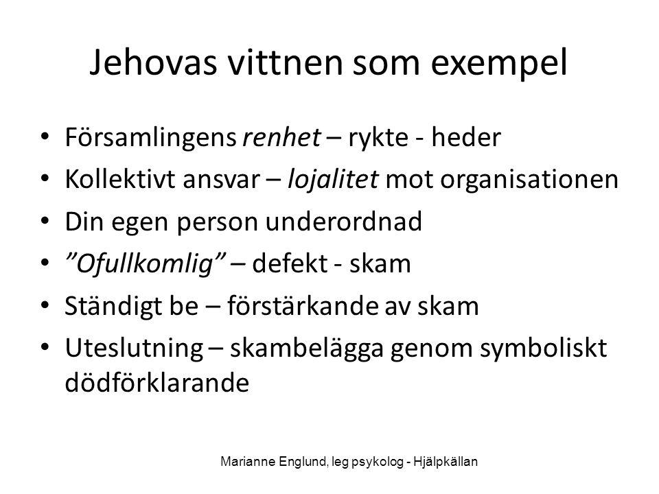 Jehovas vittnen som exempel
