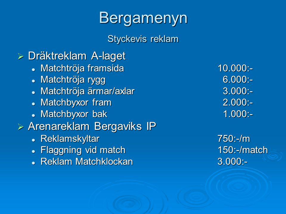 Bergamenyn Styckevis reklam