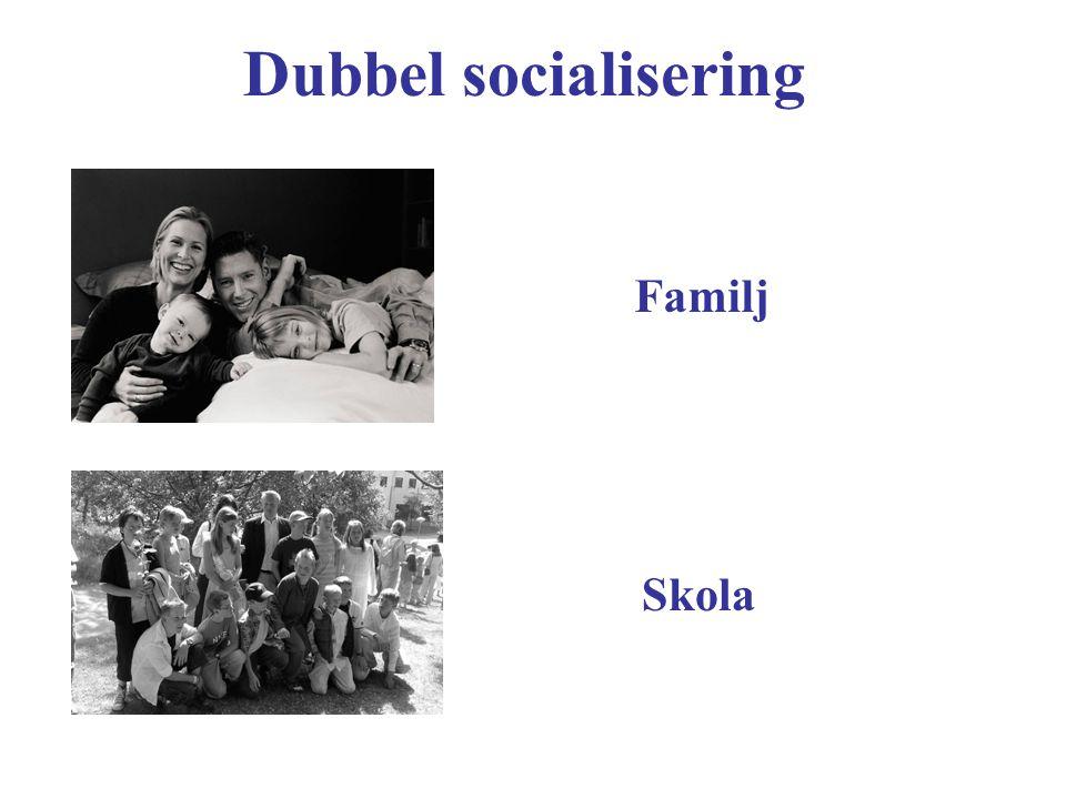 Dubbel socialisering Familj Skola