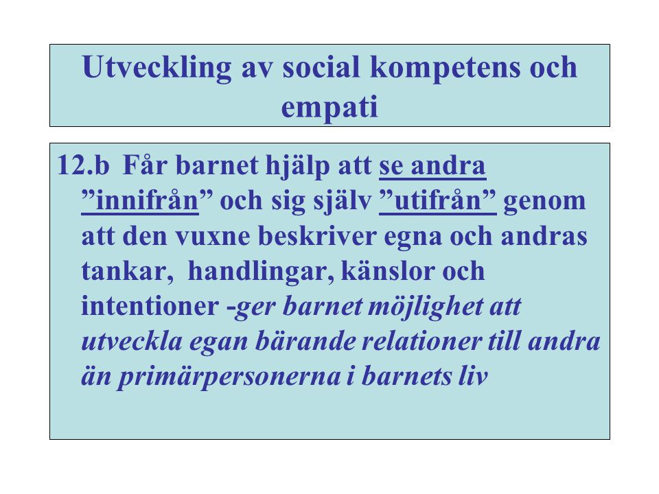 Utveckling av social kompetens och empati